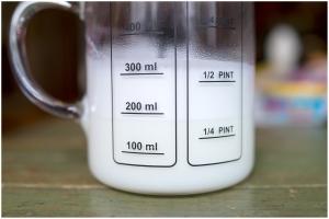 Microfoamed skim milk